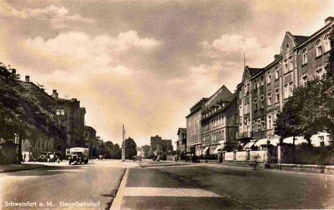 Hauptbahnhofstraße um 1940