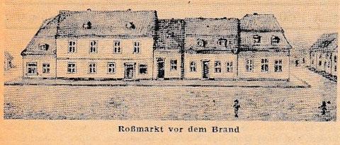 Roßmarkt vor dem Brand 1892