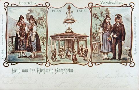 Alte Plantanz-Grußkarte