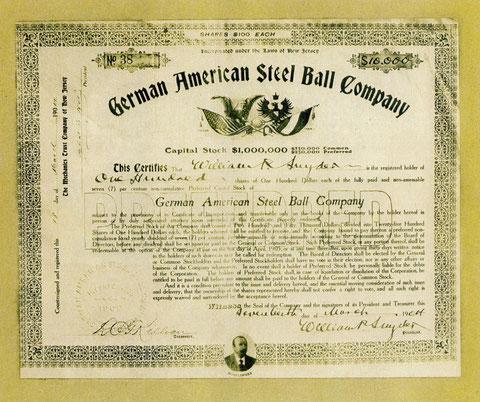Aktie 17. März 1904 - Quelle: Stadtarchiv Schweinfurt