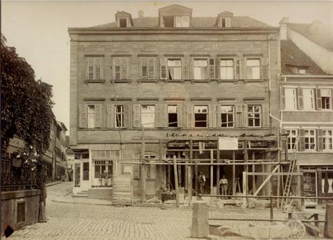 Fassadenerneuerung im Jahre 1927