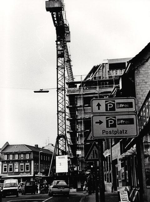 An der Stelle des alten Bavaria-Kinos entsteht der Neubau für Wöhrl Schweinfurt - heute H&M