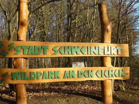 Eingang zum Schweinfurter Wildpark