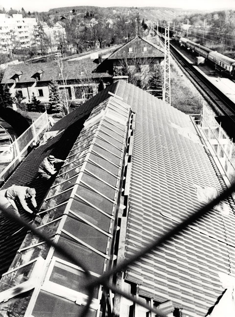 Dacharbeiten Stadtbahnhof