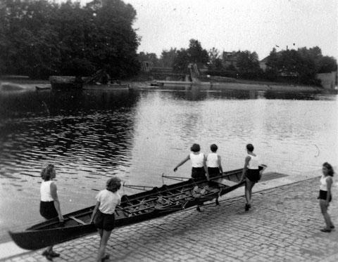 1942 an der Mainlände - Tag des Rudersports