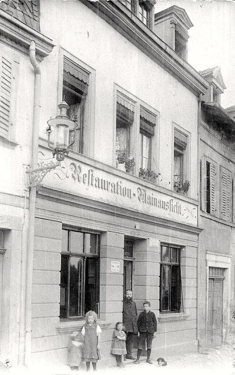 """Gaststätte """"Mainaussicht"""" Fischerrain 51"""