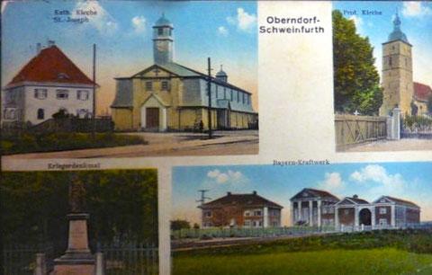 Auf dieser alten Postkarte schrieb man Schweinfurt mit h am Ende; keine seltene Kuriosität
