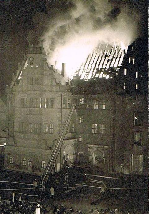 Der Rathausbrand 20. April 1959
