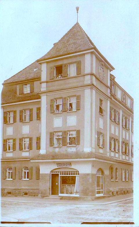 Metzgerei Christian Gäb (Schweinemetzger) 1914 - Seestraße 5