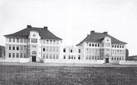 Die Ludwigschule nach ihrer Fertigstellung 1908