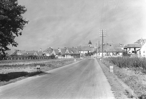 Blick auf Gochsheim in den 1950ern - Danke an Peter Wiegand