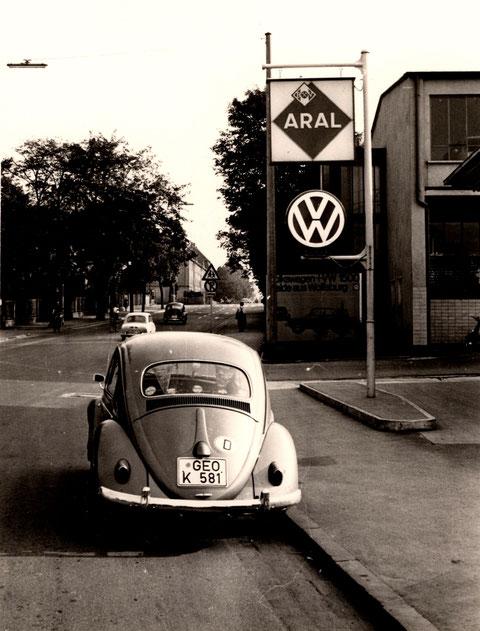 Deutschhöfer Straße 45 ARAL-Tankstelle und Fa. Vossiek 1961
