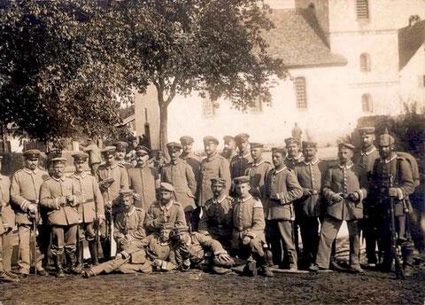 Soldaten im 1. WK in St. Ludwig