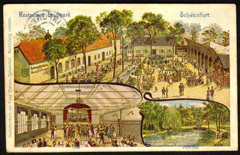Restaurant Stadtpark um 1910