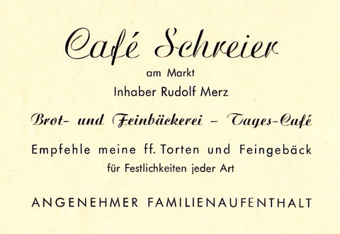 Annonce von 1950