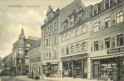 Spitalstraße Schweinfurt um 1904