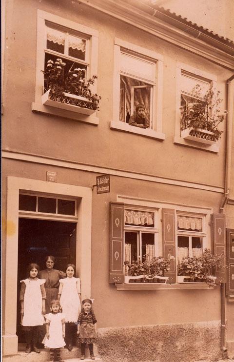 Judengasse 21 - Schneidermeister Köhler - 1915 - Danke an Familie Werner
