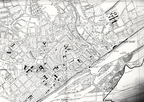 Stadtplan im Jahre 1938 - bitte vergrößern