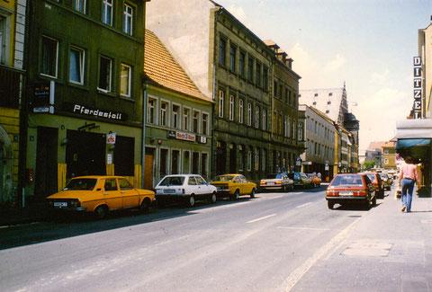 """Brückenstraße mit """"Pferdestall"""""""