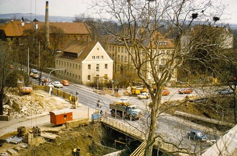 Kreuzung Marienbach/Mainbergerstr. Schweinfurt beim Umbau