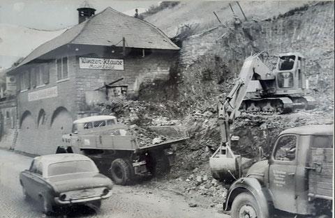 Bauarbeiten an der Winzerklause