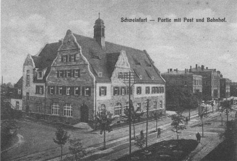 Post und Hauptbahnhof um 1910