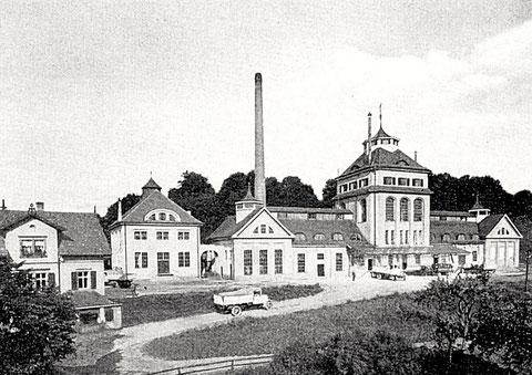 """1912 wurde auch der """"Neubau"""" des Brauhauses Schweinfurt am Theilberg (heutiger Standort) fertiggestellt"""