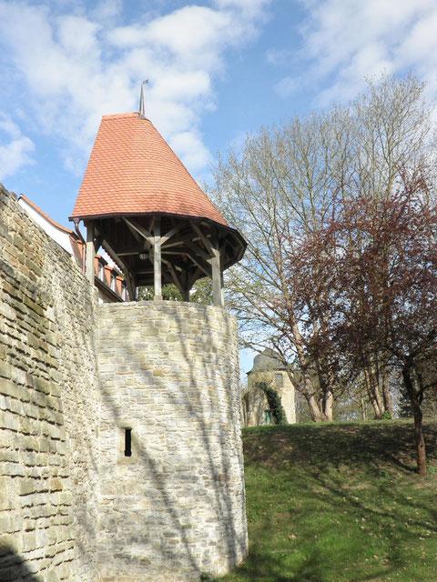 Jägerturm und Samtturm am Oberen Wall