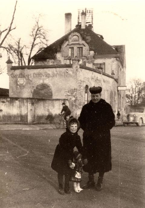 Gasthof ur Ludwigsbrücke ca. 1952 - danke an Horst Freiberger