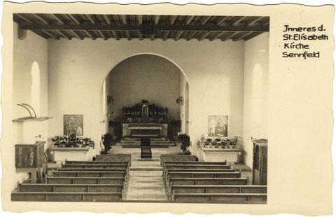 Inneres der katholischen Kirche. Foto Ende 1932