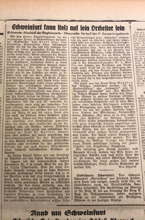 aus Mainfränkische Zeitung Ausgabe Schweinfurt 28. April 1941