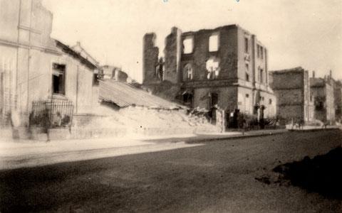 Luitpoldstraße 10 im Jahr 1944 nach weiteren Angriffen