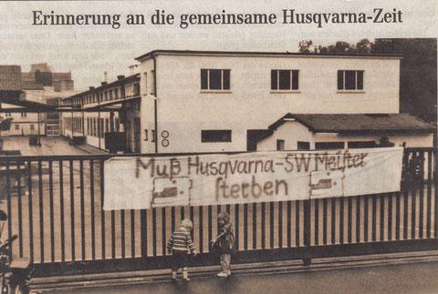 Husqvarna in der Niederwerrner Str. im Jahr 1983