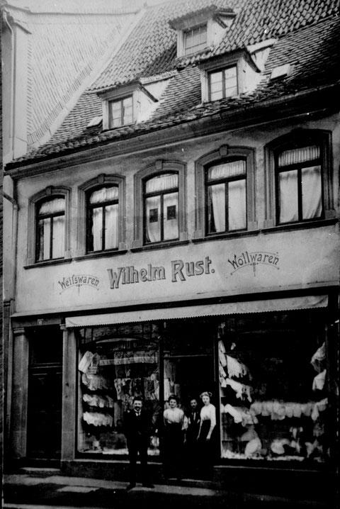 Spitalstraße 17; Wilhelm Rust, Wollwaren ca. 1925