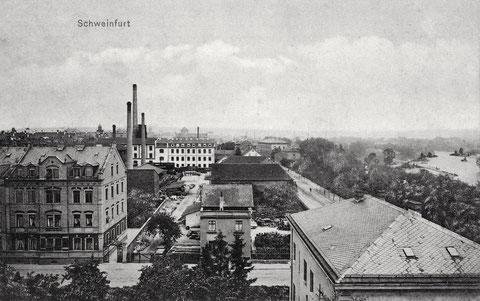 Blick stadteinwärts um 1902