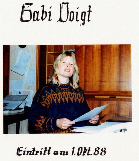Am 1. Oktober 1988 trat Tochter Gaby Voigt ins Familienunternehmen ein