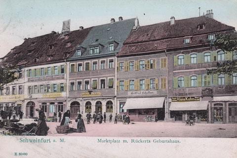 Marktplatz um 1900
