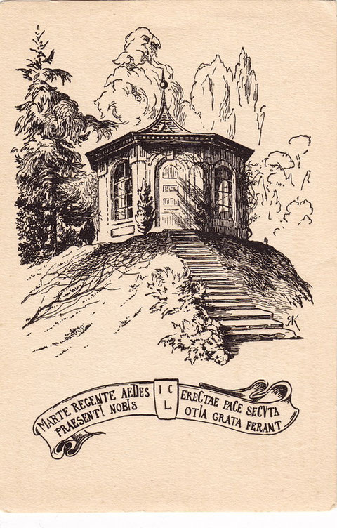 Gartenhäuschen, erbaut von Lebküchner im Garten der einstigen Pfründeanstalt-1808-auch Naturheilschanze genannt