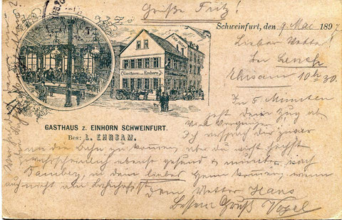 Grußkarte von 1897 - Danke an Peter Wiegand