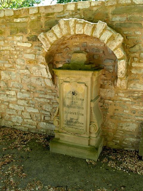 Das Grab von Dr. Freidrich Stein im alten Friedhof