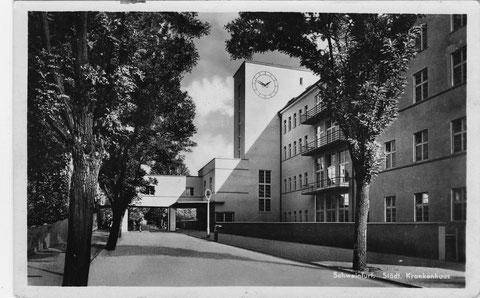 Städt. Krankenhaus um 1940