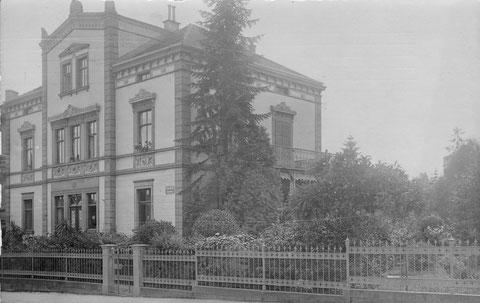 Rückertstraße 28, Anfang des 20. Jahrhunderts, damals Bach-Villa