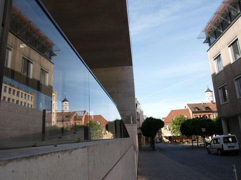 Spiegelung am Georg-Schäfer-Museum