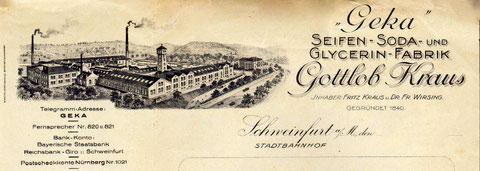 Briefbogenkopf aus den 1920ern