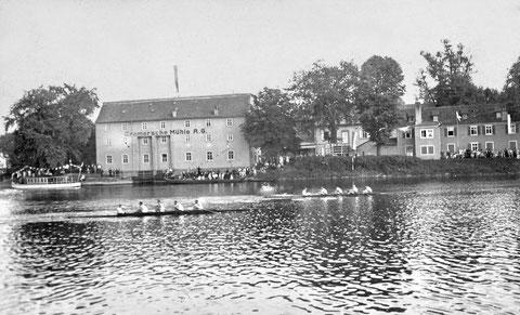 1928 - im Hintergrund alte Cramer'sche Mühle