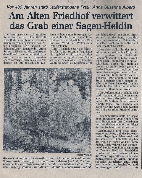 Schweinfurter Tagblatt 30.08.1995