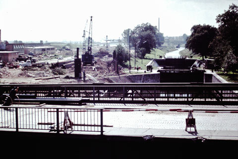Bauarbeiten an der Alten Schleuse 1960 - Danke an Christel Feyh
