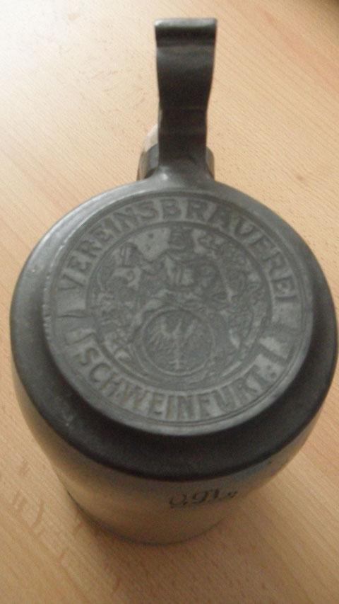 Bierkrugdeckel - Danke an Udo Schnös