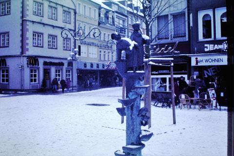 Marktbrünnle - Winter 1986 - Danke an Christel Feyh - Foto: Helmut Feyh