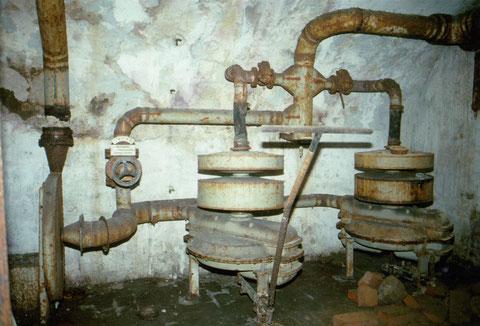 Be- und Entlüftung des Kellers für den Luftschutz im Zweiten Weltkrieg